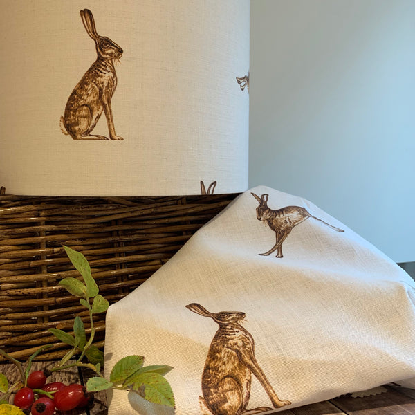 Fudge Hares Linen Drum Lampshade