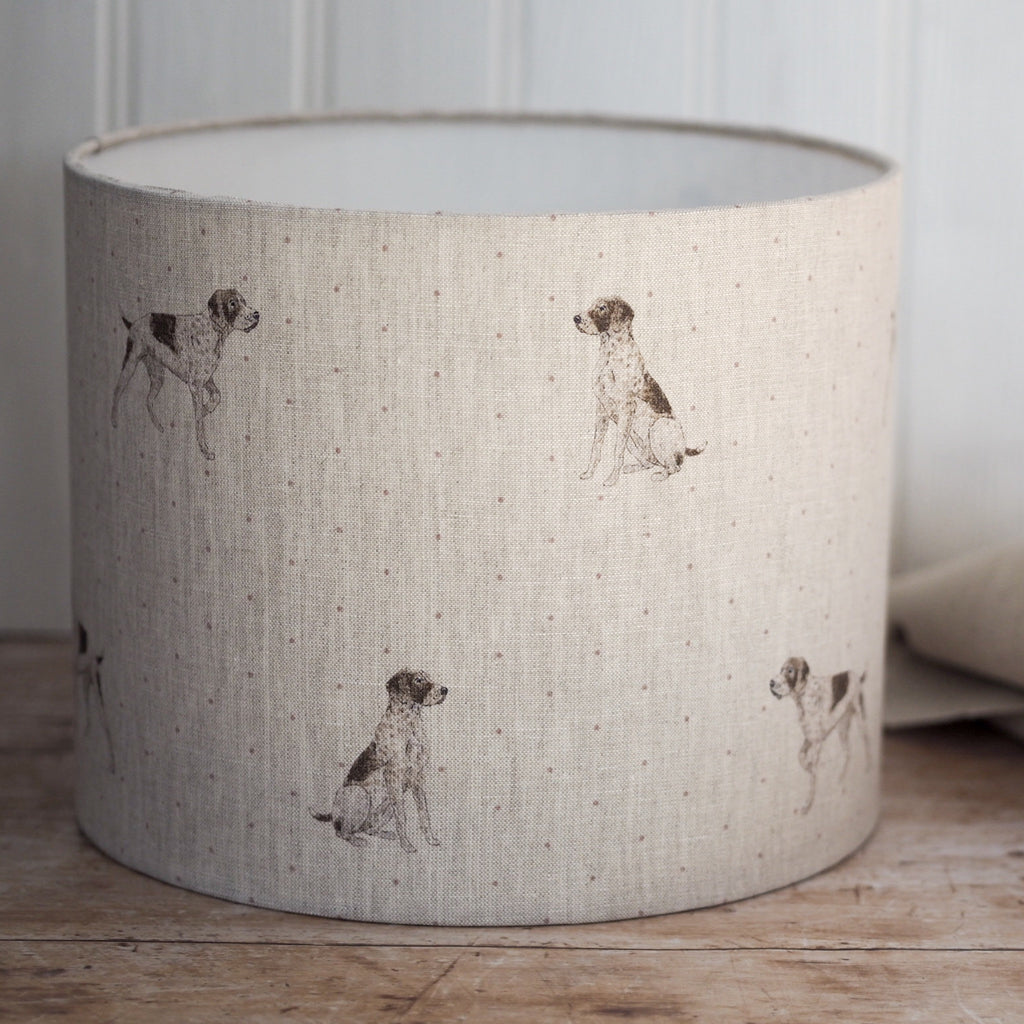 Pointer Linen Drum Lampshade