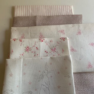 Linen Fabric Craft Pack - Pretty Pinks Themed 5