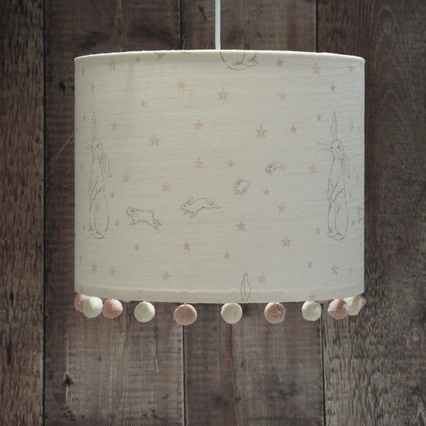 Pink Rabbit All Star Pom Pom Lampshade