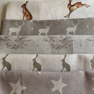Linen Fabric Craft Pack - Country Style Themed 1