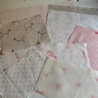 Linen Fabric Craft Pack - Smaller Projects Pretty Pinks 1