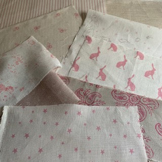 Linen Fabric Craft Pack - Smaller Projects Pretty Pinks 2