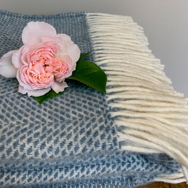 Blue Beehive Throw