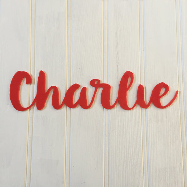 Personalised Acrylic Name Sign - Red - Lolly & Boo