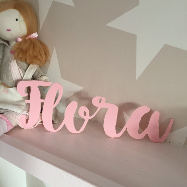 Personalised Acrylic Name Sign - Pale Pink - Lolly & Boo