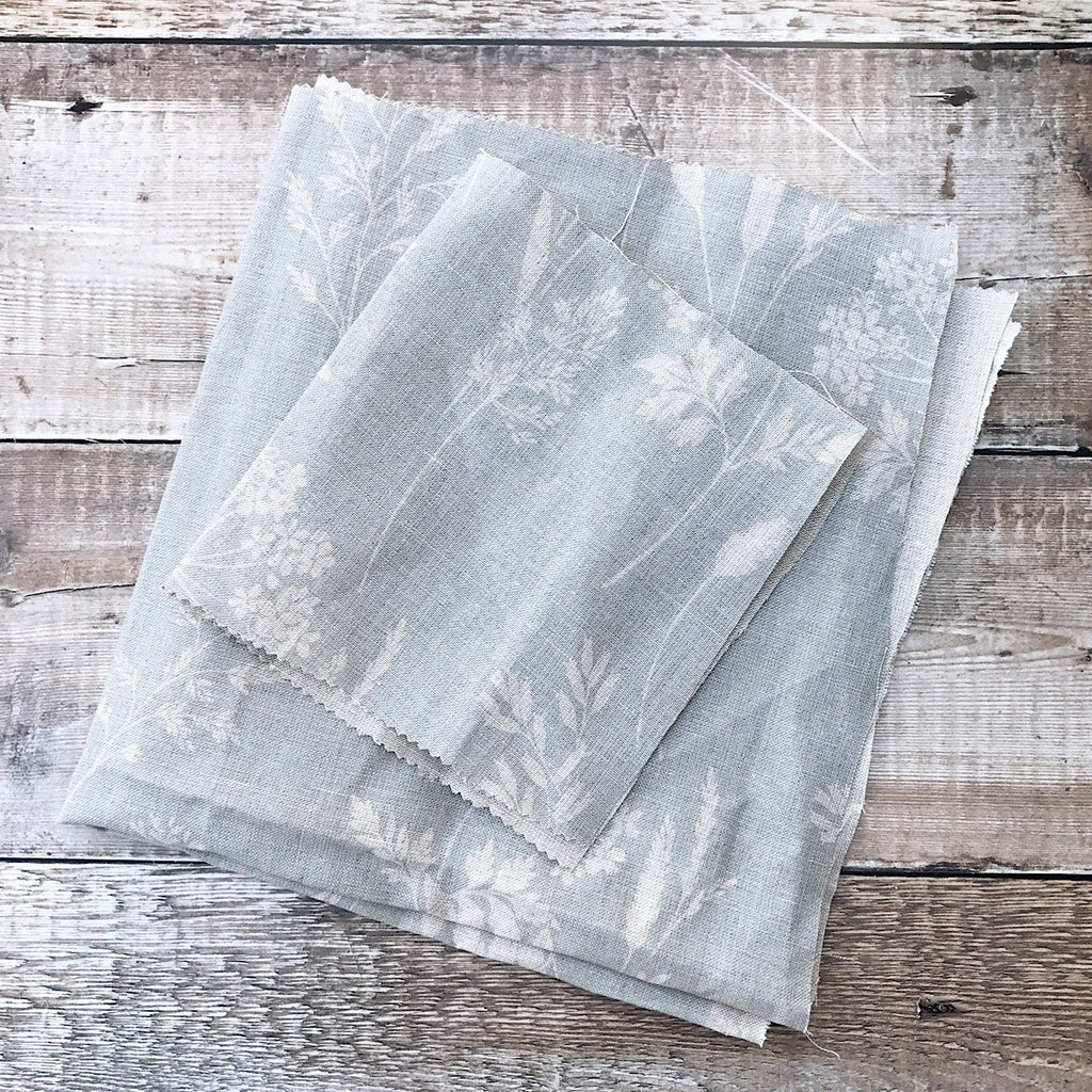 Peony & Sage Wild Grasses & Cow Parsley Linen - Offcut