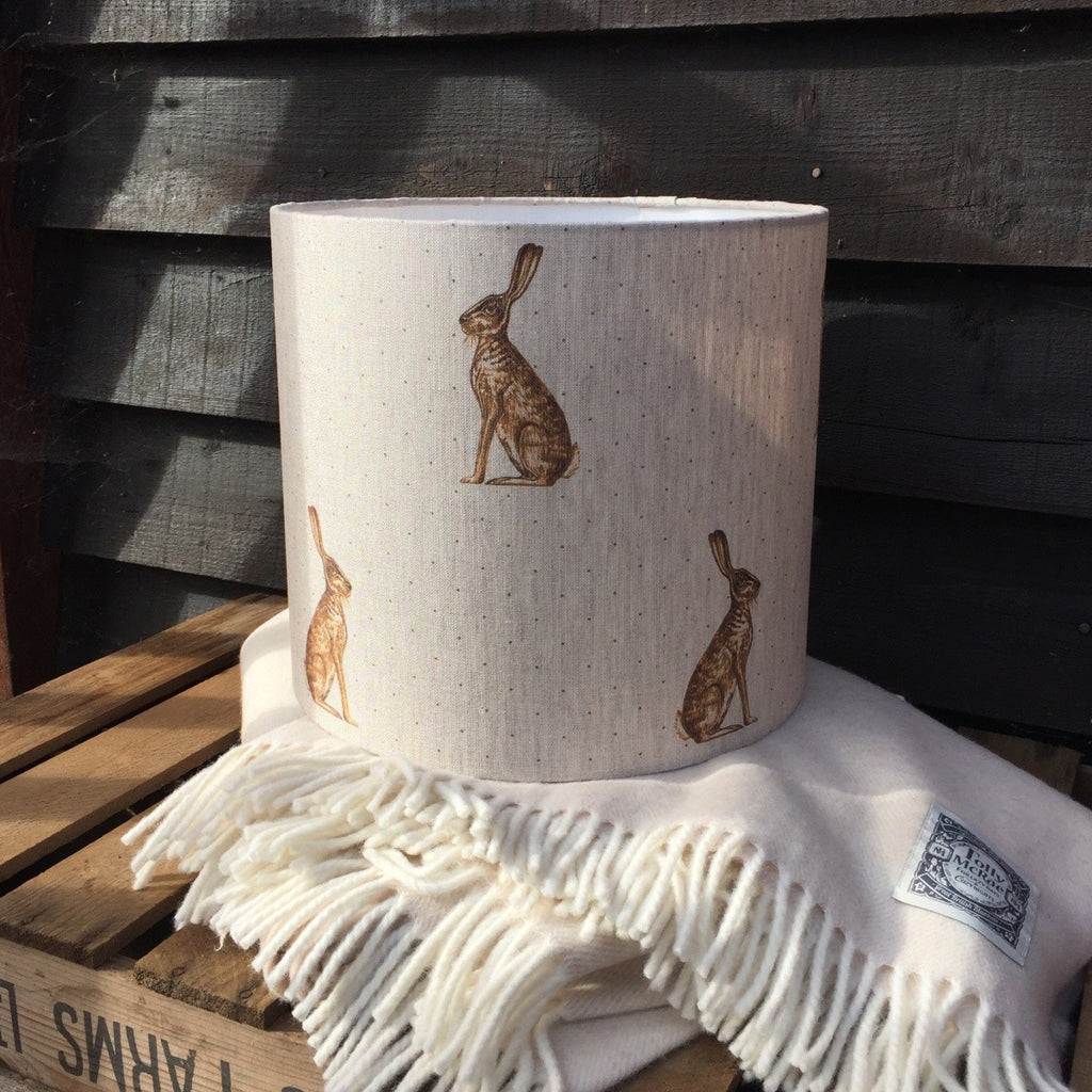 Mr Hare Linen Drum Lampshade - Lolly & Boo - 1