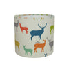 Elk Family (multi colour) Drum Lampshade - Lolly & Boo - 2