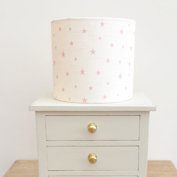 Blush Pink All Stars Linen Drum Lampshade - Lolly & Boo - 1