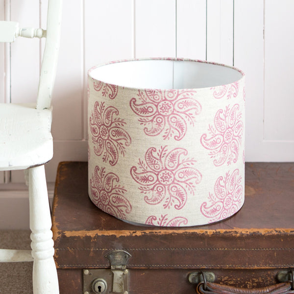 Anoushka Linen Lampshade in Peony - Lolly & Boo