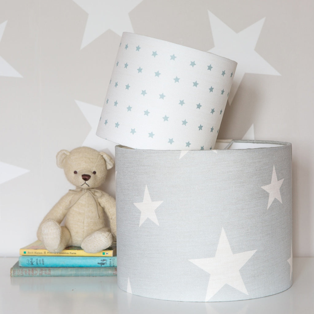 All Star Linen Lampshade in Seamist - Lolly & Boo - 1