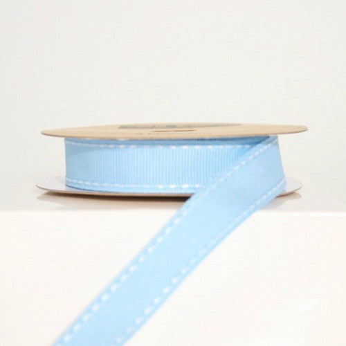 Blue Stitched Ribbon - Lolly & Boo