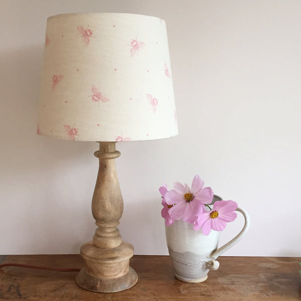 Blush Pink Busy Bees Linen Lampshade Lolly Amp Boo
