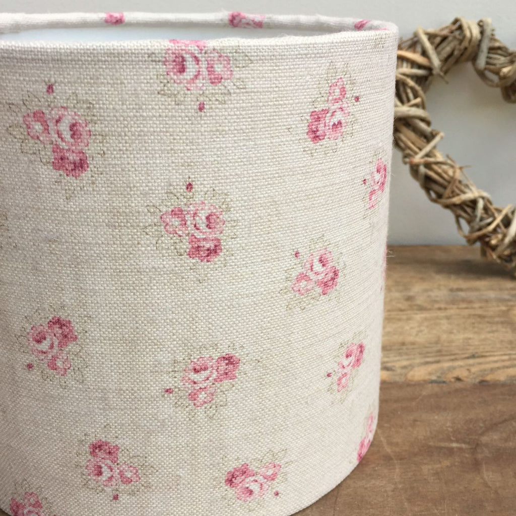 Posies Linen Drum Lampshade - Lolly & Boo