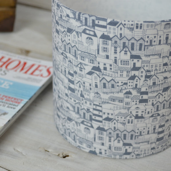 Coastal Houses Drum Lampshade - Lolly & Boo