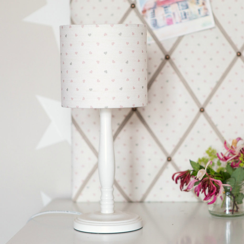 Hearts Linen Lampshade - Lolly & Boo - 1