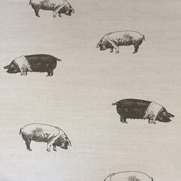 Emily Bond Saddleback Pig Linen (1/2 metre) - Lolly & Boo - 1
