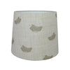 Olive Falling Feathers Linen Lampshade - Lolly & Boo - 2
