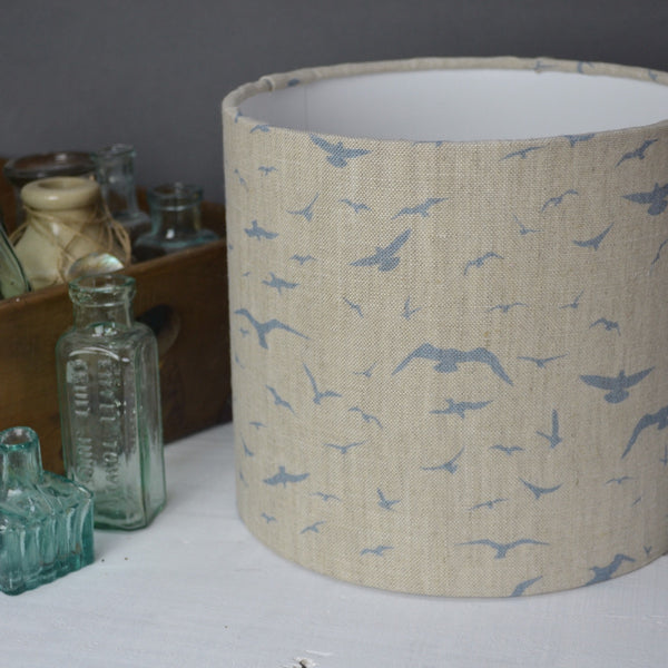 Seagulls Linen Drum Lampshade - Lolly & Boo - 1