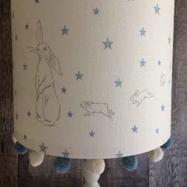 Blue Rabbit All Star Pom Pom Lampshade