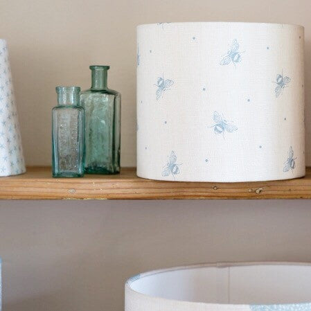 Busy Bees Linen Lampshade - Lolly & Boo - 1