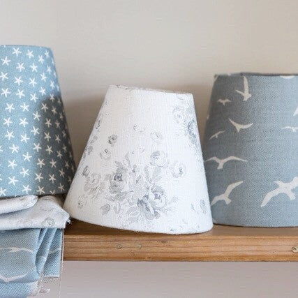 Millie Gustavian Grey Linen Lampshade - Lolly & Boo - 1