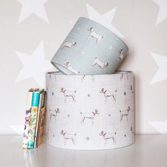 Jack All Star (Duck Egg) Linen Lampshade - Lolly & Boo - 1