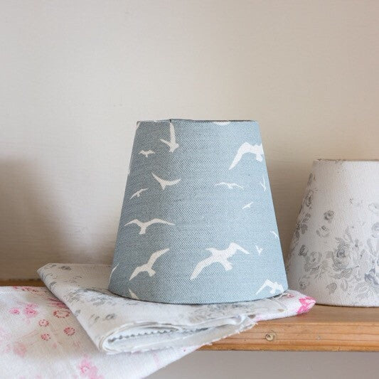 Seagulls stone blue Linen Lampshade - Lolly & Boo - 1
