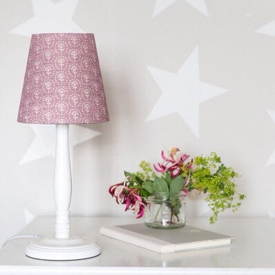 Heather Blotch Daisy Linen Lampshade - Lolly & Boo - 1
