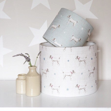 Jack All Star (blue star) Linen Lampshade - Lolly & Boo - 1