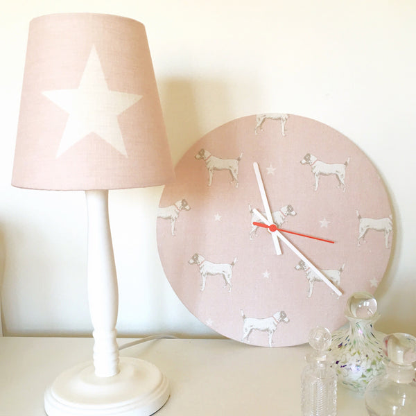 All Stars (Large) Pink Icing Linen Lampshade - Lolly & Boo - 1