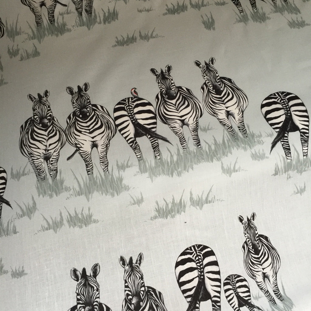 Juliet Travers Zebra Dazzle Linen (1/2 metre) - Lolly & Boo