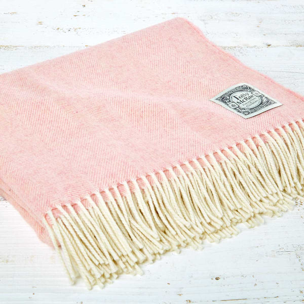 Luxury Merino Throw - Rose Blush Pink