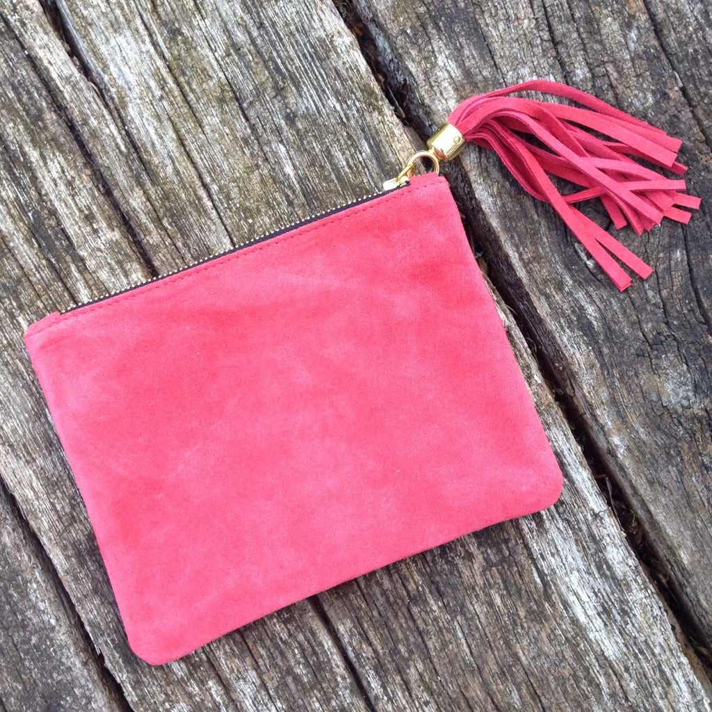 Suede Clutch Bag - Lolly & Boo - 2