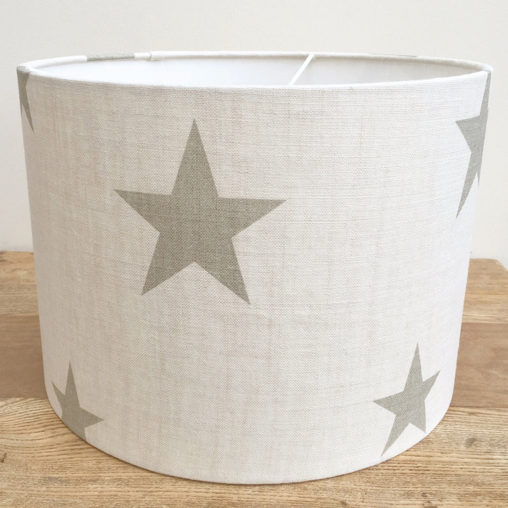 All Stars (Gustavian Grey) Linen Lampshade - Lolly & Boo - 1