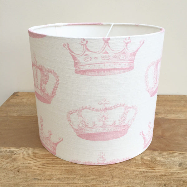 Crowns (Pink icing) Linen Lampshade - Lolly & Boo - 1