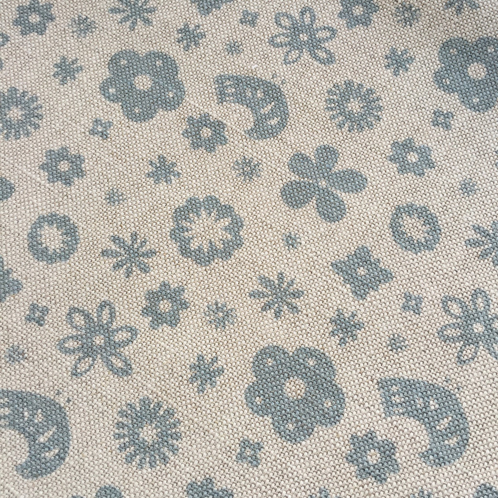 Olive & Daisy Mini Freya Linen in Powder Blue - Offcut (Fat 8th Size) - Lolly & Boo - 2