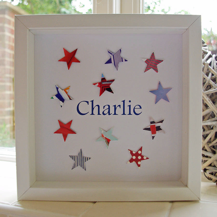 Personalised Paper Stars Picture - Lolly & Boo - 1