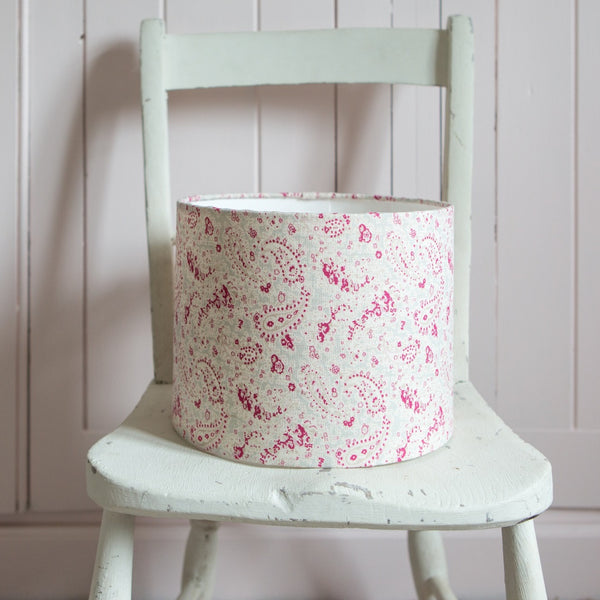 Seamist Vintage Paisley Linen Drum Lampshade - Lolly & Boo - 1