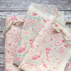 Peony & Sage Vintage Paisley Linen Offcuts - Perfect Pink