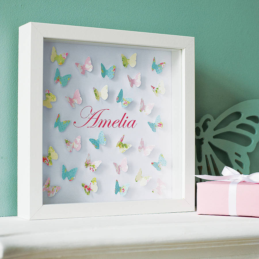Personalised Paper Butterflies Art - Lolly & Boo - 1