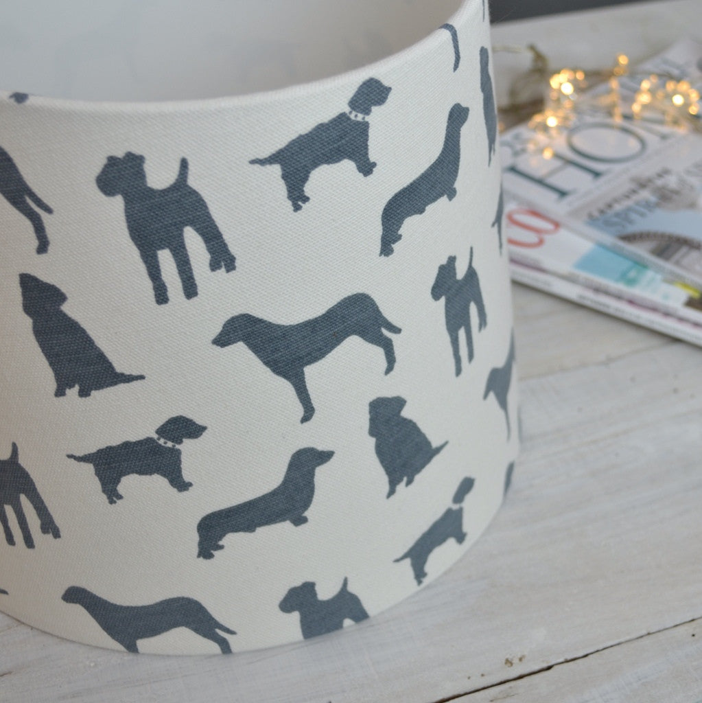 Parklife (Slate) Drum Lampshade - Lolly & Boo