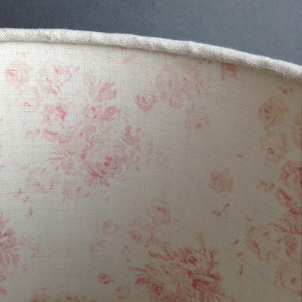 Finca Linen Lampshade With Millie Lining Lolly Amp Boo