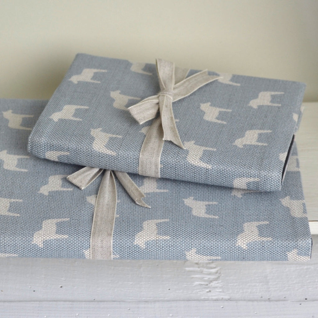 Cornish Blue Horses Linen Notebook - Lolly & Boo - 1