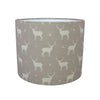 Truffle Stag All Star Linen Drum Lampshade - Lolly & Boo - 2