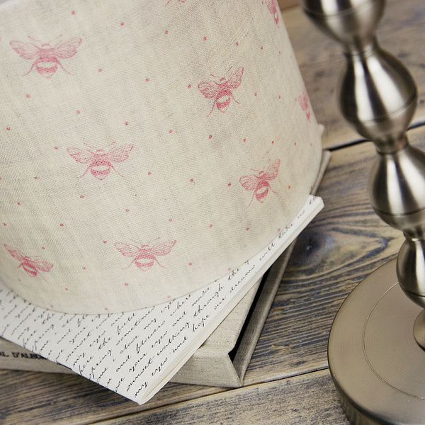 Peony & Sage Blush Pink Bees Linen - Offcut - Lolly & Boo