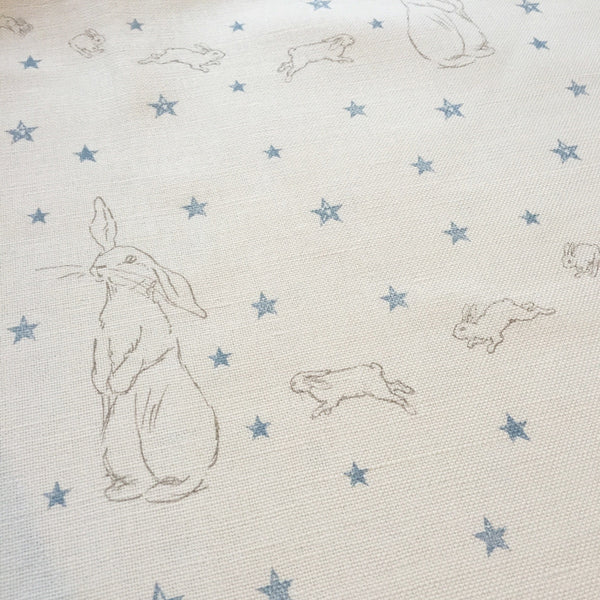 Peony & Sage Rabbit All Star Linen (Blue) - Offcut - Lolly & Boo - 1