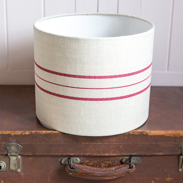 Peony & Sage Swiss Stripe Drum Lampshade - Lolly & Boo - 1