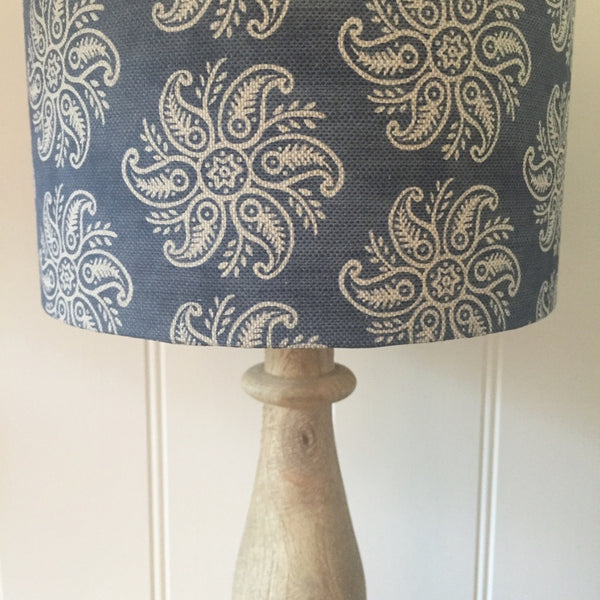 Mini Anoushka Slate Blue Blotch Linen Lampshade - Lolly & Boo - 1